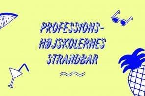 Det er tredje år i træk, at Danske Professionshøjskoler deltager med en fælles Strandbar på folkemødet